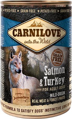 Salmon & Turkey for adult dogs can