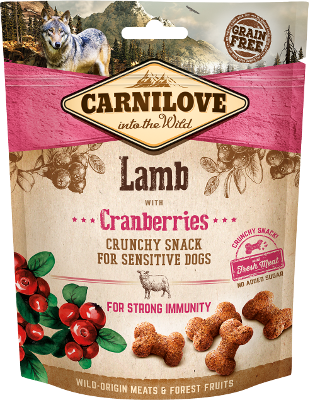 Crunchy Lamb with Cranberries  GRAIN FREE – FRESH MEAT – NO ADDED SUGAR