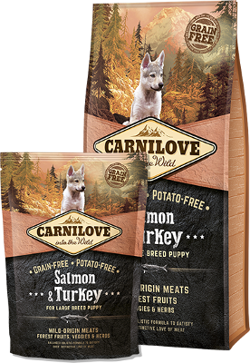 Salmon & Turkey for large breed puppy