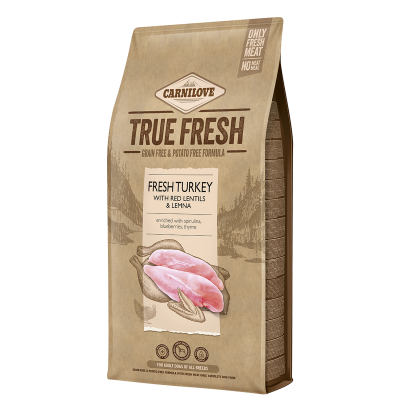 Carnilove True Fresh - Fresh Turkey with Red Lentils and Lemna